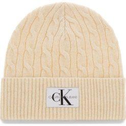 Czapka CALVIN KLEIN JEANS - J Cable Beanie K60K604778 106. Szare czapki zimowe damskie marki Calvin Klein Jeans, na zimę, z jeansu. Za 179,00 zł.