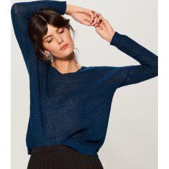 Ażurowy sweter z domieszką wełny - Zielony. Brązowe swetry klasyczne damskie marki DOMYOS, xs, z bawełny. Za 99,99 zł.