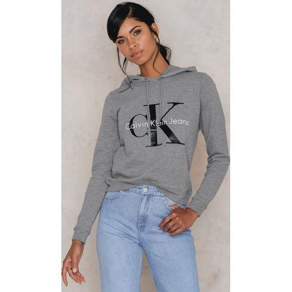 ddf981fbbc707 Calvin Klein Bluza z kapturem Honor True Icon - Grey - Szare bluzy ...