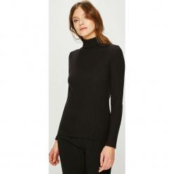 Answear - Sweter. Czarne golfy damskie ANSWEAR, l, z bawełny, z krótkim rękawem. Za 69,90 zł.
