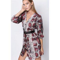 Bordowa Sukienka Now Or Never. Czerwone sukienki mini marki Born2be, uniwersalny. Za 79,99 zł.