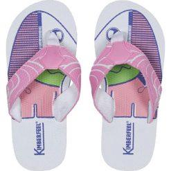 """Japonki """"Tahiti"""" w kolorze jasnoróżowym. Niebieskie klapki chłopięce marki geox kids, z gumy. W wyprzedaży za 43,95 zł."""