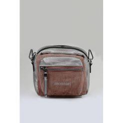 Torebka z ażurowym wzorem II. Szare torebki klasyczne damskie Monnari, w ażurowe wzory, małe, zdobione. Za 75,60 zł.