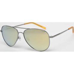 Polaroid - Okulary PLD6012N. Brązowe okulary przeciwsłoneczne męskie aviatory Polaroid, z materiału. Za 339,90 zł.