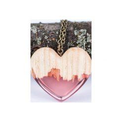 Drewniany naszyjnik czerwone serce. Czerwone naszyjniki damskie Bewoody. Za 160,00 zł.