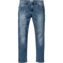 """Dżinsy ze stretchem Slim Fit Straight bonprix niebieski """"used"""". Niebieskie jeansy męskie relaxed fit bonprix, z jeansu. Za 109,99 zł."""