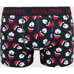 Jack & Jones - Bokserki (3-pack). Czarne bokserki męskie marki Jack & Jones, l, z bawełny, z okrągłym kołnierzem. Za 119,90 zł.