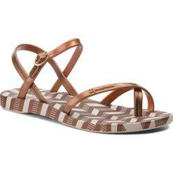 Japonki IPANEMA - Fashion Sand. V Fem 82291 Beige/Bronze 21949. Brązowe sandały damskie Ipanema, z tworzywa sztucznego. Za 89,99 zł.
