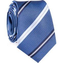 Krawat KWNR001927. Niebieskie krawaty męskie marki Giacomo Conti, w paski, z mikrofibry. Za 69,00 zł.