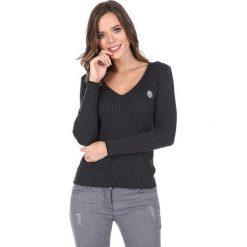"""Swetry klasyczne damskie: Sweter """"Deuce"""" w kolorze antracytowym"""