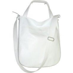 Torebki klasyczne damskie: biała torba przez ramie, biala torba worek