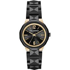 Zegarki męskie: Zegarek KARL LAGERFELD – Joleigh KL3401 Black/Gold/Black