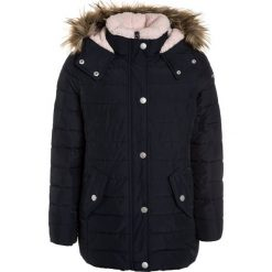 Abercrombie & Fitch CORE Płaszcz zimowy navy. Niebieskie płaszcze dziewczęce Abercrombie & Fitch, na zimę, z materiału. Za 589,00 zł.
