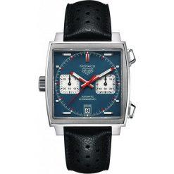 ZEGAREK TAG HEUER MONACO CAW211P.FC6356. Czarne zegarki męskie marki KALENJI, ze stali. Za 22700,00 zł.