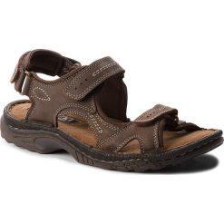 Sandały męskie skórzane: Sandały LASOCKI FOR MEN – MI20-TIS-02 Brązowy Ciemny