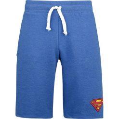 Superman Logo Vintage Krótkie spodenki odcienie niebieskiego. Niebieskie bermudy męskie Superman, z motywem z bajki, z dresówki, vintage. Za 121,90 zł.