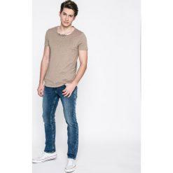 Guess Jeans - Jeansy Angel. Szare jeansy męskie skinny marki Guess Jeans, l, z aplikacjami, z bawełny. W wyprzedaży za 299,90 zł.