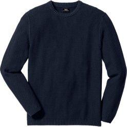 Sweter Regular Fit bonprix ciemnoniebieski. Niebieskie swetry klasyczne męskie marki bonprix, m, z dzianiny. Za 59,99 zł.