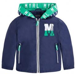 Kurtka w kolorze granatowym. Niebieskie kurtki chłopięce marki Mayoral. W wyprzedaży za 134,95 zł.
