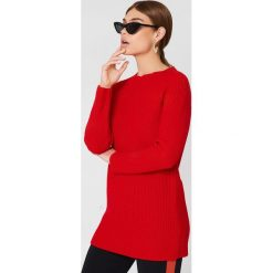 Swetry damskie: Trendyol Sweter z odkrytymi plecami - Red