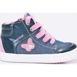 Geox - Buty dziecięce. Szare buty sportowe dziewczęce marki Geox, z gumy. W wyprzedaży za 169,90 zł.