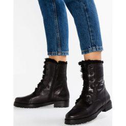 Everybody Botki sznurowane carreza nero/nero. Czarne buty zimowe damskie Everybody, z materiału, na sznurówki. W wyprzedaży za 461,45 zł.