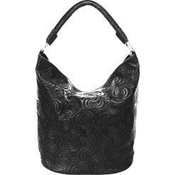 Torebki klasyczne damskie: Skórzana torebka w kolorze czarnym - 32 x 19 x 4 cm