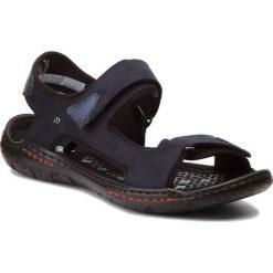 Sandały NIK - 06-0139-23-7-09-03 Granatowy. Niebieskie sandały męskie skórzane Nik. W wyprzedaży za 159,00 zł.