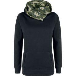 Bluzy rozpinane damskie: Nastrovje Postdam Shawl Collar Military Hoodie Bluza z kapturem damska czarny/Woodland