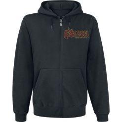 Bluzy męskie: Saxon Thunderbolt Bluza z kapturem rozpinana czarny