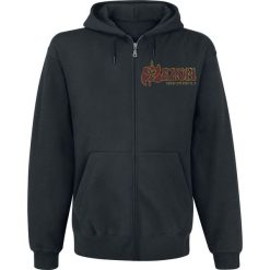 Bejsbolówki męskie: Saxon Thunderbolt Bluza z kapturem rozpinana czarny