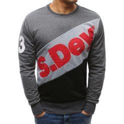 Bluzy męskie: Bluza męska z nadrukiem antracytowa (bx3455)