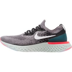 Nike Performance EPIC REACT FLYKNIT Obuwie do biegania treningowe gunsmoke/white/black/geode teal/hot punch. Szare buty do biegania męskie marki Nike Performance, z gumy. Za 629,00 zł.