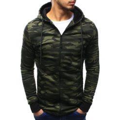 Bluzy męskie: Bluza męska rozpinana z kapturem woodland camo (bx3198)