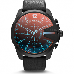 Zegarek DIESEL - Mega Chief DZ4323 Black/Black. Czarne zegarki męskie Diesel. Za 1019,00 zł.