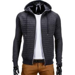 BLUZA MĘSKA ROZPINANA Z KAPTUREM B637 - GRAFITOWA. Szare bluzy męskie rozpinane marki Ombre Clothing, m, z bawełny, z kapturem. Za 49,00 zł.