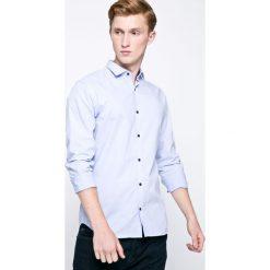 Jack & Jones - Koszula. Szare koszule męskie na spinki marki Premium by Jack&Jones, l, z bawełny, z włoskim kołnierzykiem, z długim rękawem. W wyprzedaży za 89,90 zł.