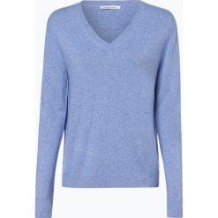 Apriori - Sweter damski z mieszanki jedwabiu i kaszmiru, niebieski. Niebieskie swetry klasyczne damskie marki Apriori, l. Za 449,95 zł.