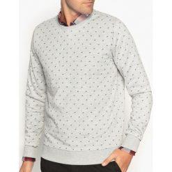 Bluza z okrągłym dekoltem i nadrukiem. Szare bluzy męskie rozpinane marki La Redoute Collections, m, z bawełny, z kapturem. Za 111,68 zł.
