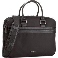 Torba na laptopa GUESS - Global Functional HM6243 NYL74 Black. Czarne plecaki męskie marki Guess, z aplikacjami. W wyprzedaży za 299,00 zł.
