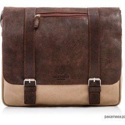 TORBA MĘSKA NA RAMIĘ SKÓRA PAOLO PERUZZI 301-PP. Brązowe torby na ramię męskie marki Kazar, ze skóry, przez ramię, małe. Za 219,00 zł.