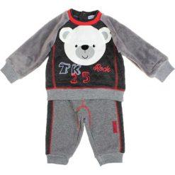 Spodnie niemowlęce: 2-częściowy zestaw w kolorze szaro-czarnym