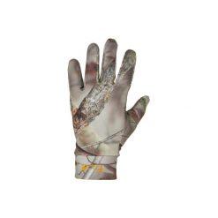 Rękawiczki myśliwskie ACTIKAM 300 camo. Brązowe rękawiczki damskie marki SOLOGNAC, z elastanu. Za 49,99 zł.