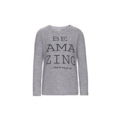 Name it  Girls Bluza z długim ręawem Dana grey melange - szary - Gr.Moda (6 - 24 miesięcy ). Szare bluzy niemowlęce Name it, z bawełny, z długim rękawem, długie. Za 39,99 zł.