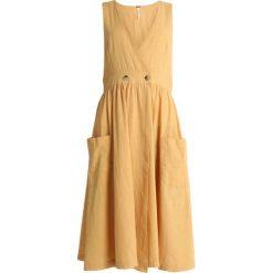 Free People DIANA WRAP DRESS Sukienka letnia light yellow. Żółte sukienki letnie marki Free People, z bawełny. Za 409,00 zł.