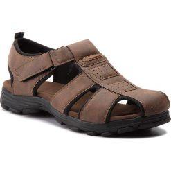 Sandały męskie: Sandały GINO LANETTI – MS17011-2 Brązowy