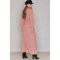 Długie sukienki: SheIn Sukienka z paskiem - Pink