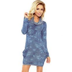 Sukienki: Wiktoria Golf - sukienka z dużymi kieszeniami - JEANS przecierany