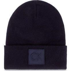 Czapka CALVIN KLEIN - Ck Beanie K50K503209 411. Niebieskie czapki damskie Calvin Klein, z materiału. W wyprzedaży za 159,00 zł.