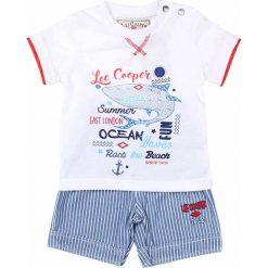 T-shirty chłopięce z nadrukiem: 2-częściowy zestaw w kolorze błękitno-białym